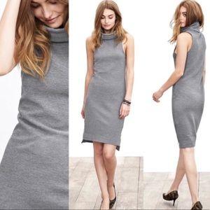 Banana Republic Gray Turtleneck Sleeveless Dress